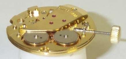 Ein Uhrwerk mit 2 Federhäusern